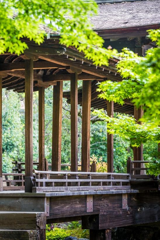 Wood bridge, Shosei-en Garden,Kyoto
