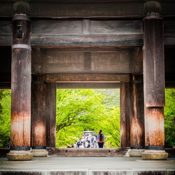 The massive Sanmon entrance gate,Nanzen-ji Temple, Kyoto