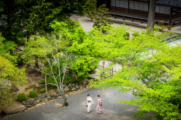 Nanzenji Temple, view from the entrance gate, Kyoto
