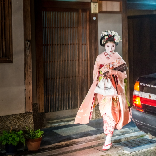 A Geisha in Gion district, Kyoto