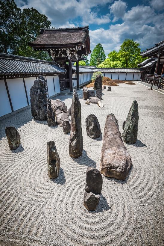 Zen garden at Ryoan-ji Temple, Kyoto