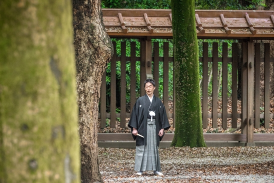 Groom at Meiji Jingu Shrine, Tokyo
