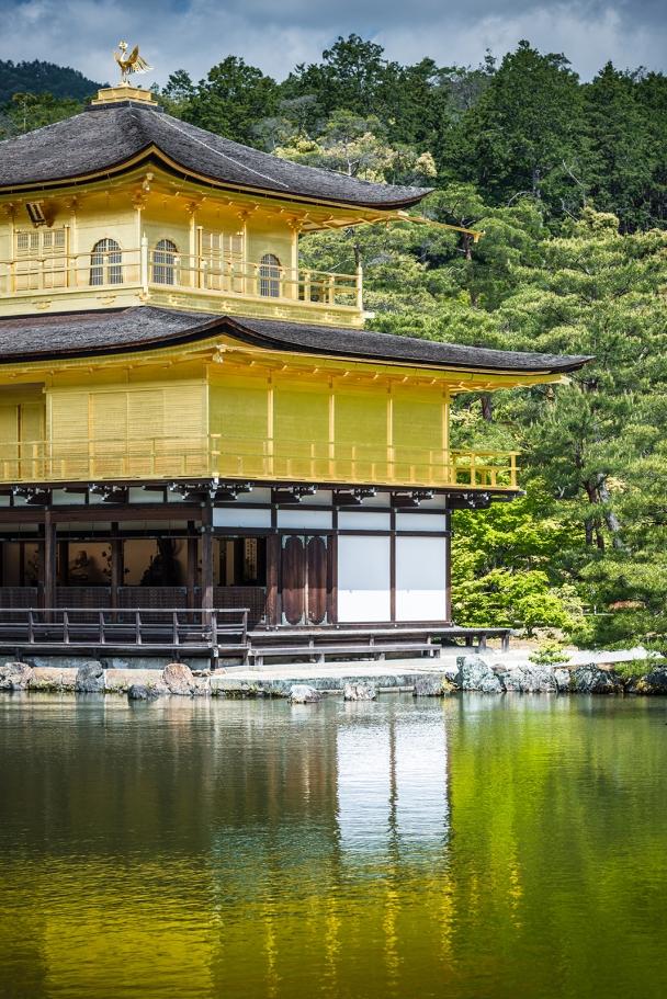 The golden inkaku-ji (Rokuon-ji) Zen Buddhist temple, Kyoto