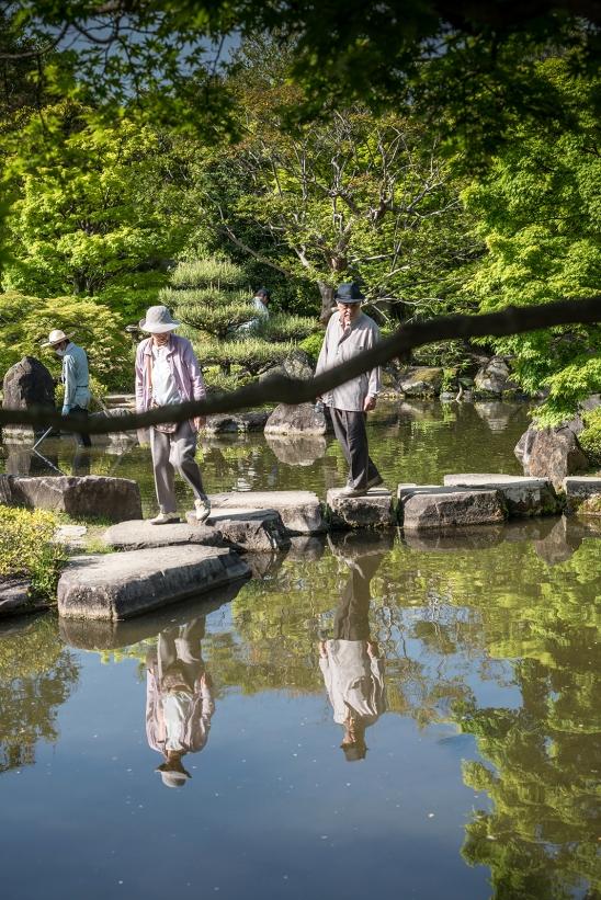 Himeji Castle, Japanese gardens