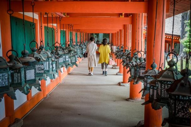 Hallway of the lanterns, of Kasuga Grand Shrine, Nara