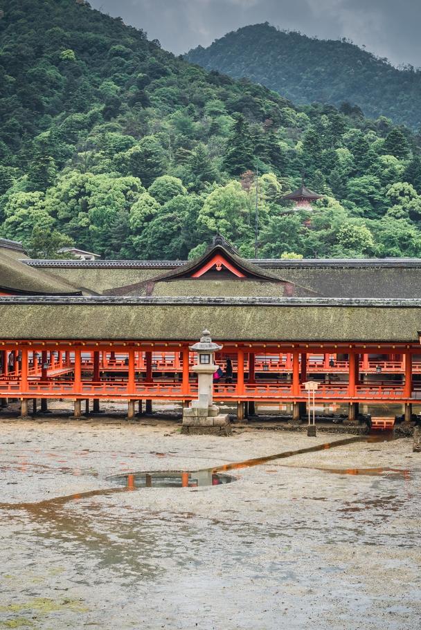 Inside Itsukushima Shrine, Miyajima island