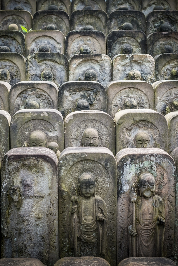 The thousand graves piled up in the temple of Jomyoin, Tokyo