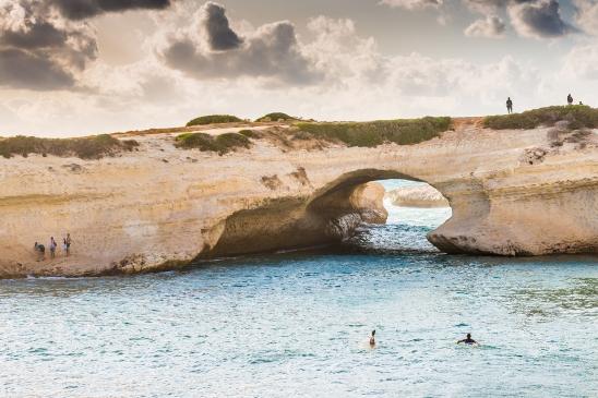 Natural limestone arch, S'archittu di Cuglieri