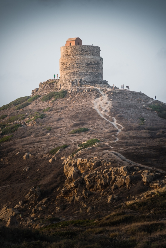 The Spanish gagliarda (armed with cannon) tower of San Giovanni, Sinis peninsula