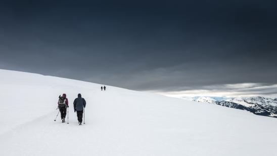 Reaching the Chäserugg peak (2,262 m.s.l.)