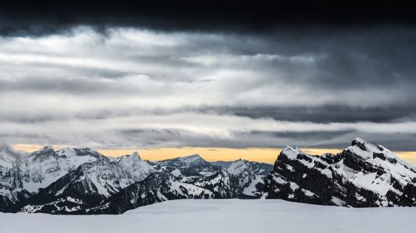 The Rigi peak (1,798 m.s.l.) with its antenna
