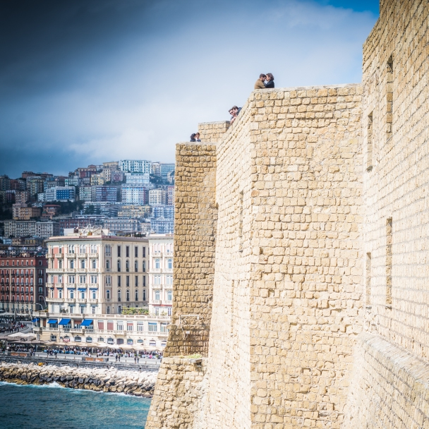 On Castel dell'Ovo (Egg Castle) in the bay of Naples