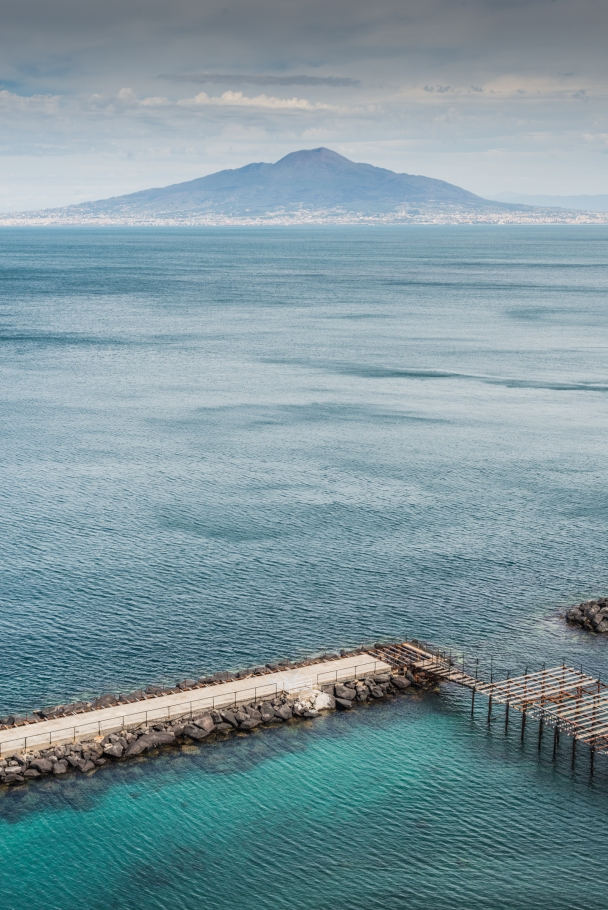 The volcano Vesuvius and Naples at its feet