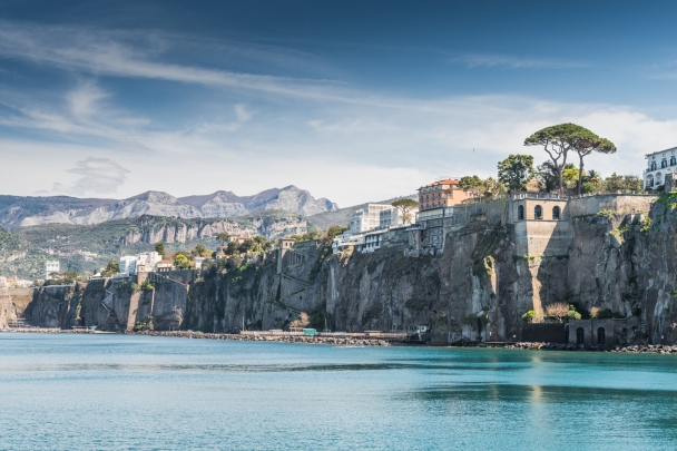Monte Faito and Monti Lattari from the Gulf of Naples