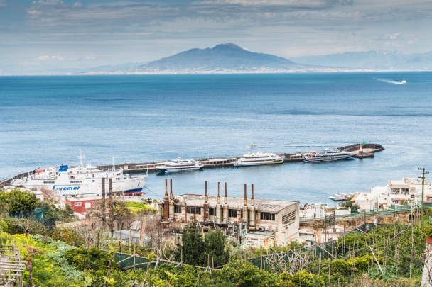 Mount Vesuvius from Anacapri