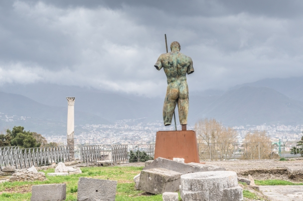View on the new town of Pompei