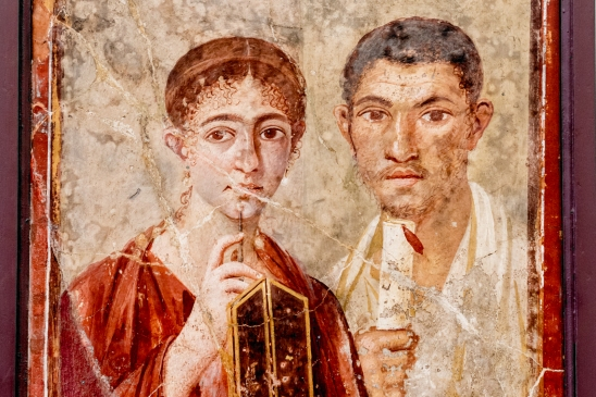 Terentius Neo with wife, bakers, Pompeii