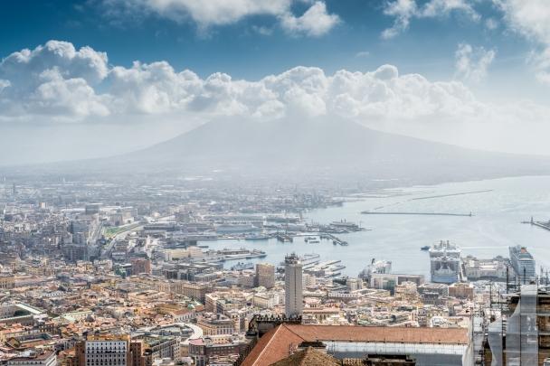 Mount Vesuvius from the Vomero's hill