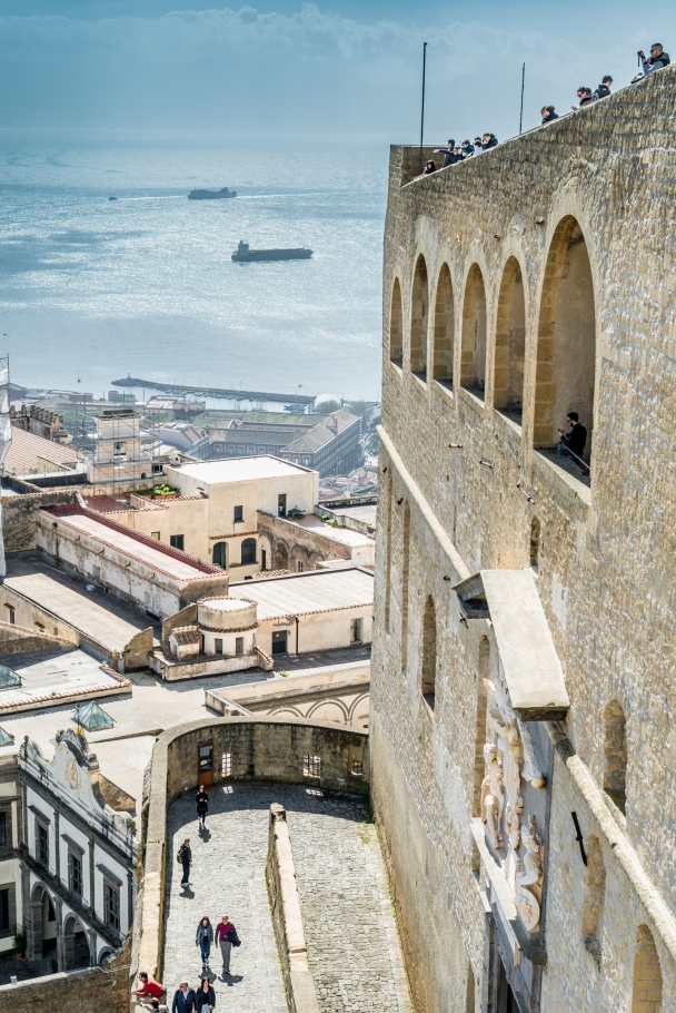 Climbing Fortress Sant' Elmo, Naples