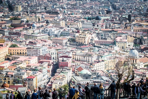 Naples from the Vomero's hill