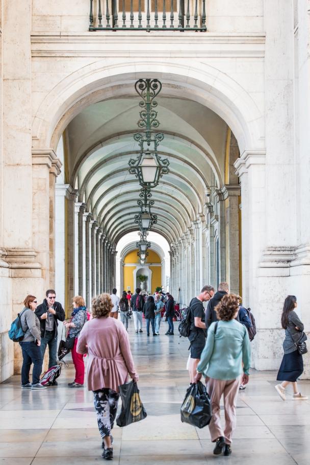 The arcades of Praça do Comércio